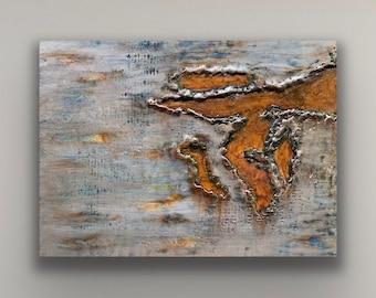 """Encaustic titled """"Corrosion #3"""" /Artist Nikki Bruchet"""