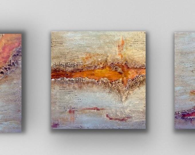 "Original encaustic titled ""Corrosion"" series / Artist Nikki Bruchet"
