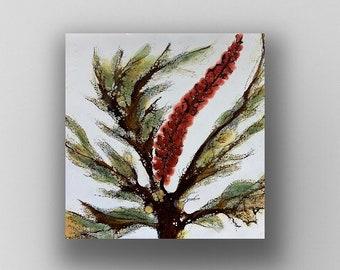 """Encaustic titled """"Reaching for the Light - mini study"""" Artist Nikki Bruchet"""