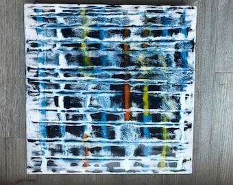 "Original encaustic titled ""Repetition 2""   / Artist Nikki Bruchet"
