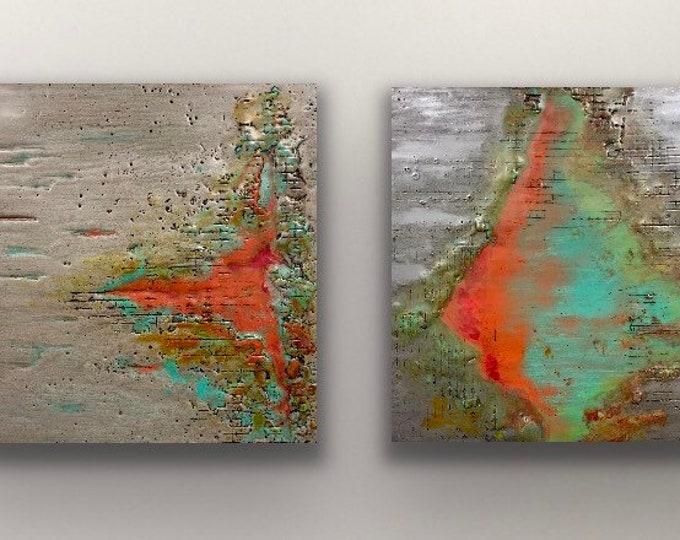 "Original encaustic titled ""Corrosion.2 "" series / Artist Nikki Bruchet"