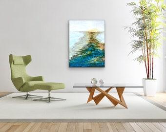 "Original, Encaustic, Landscape,  titled ""Ray of Hope""   / Artist Nikki Bruchet"