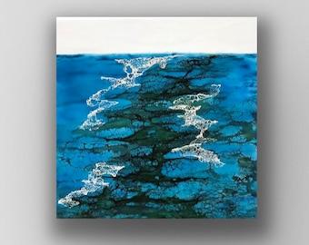 "Original encaustic titled ""Kelp Flow""   / Artist Nikki Bruchet"