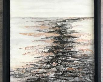 "Original encaustic titled ""Muddy Waters""/ Artist Nikki Bruchet"