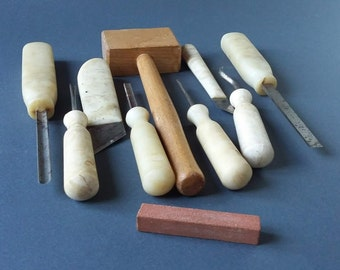 Woodcarving tools Hand forged USSR vintage woodworking gifts tools