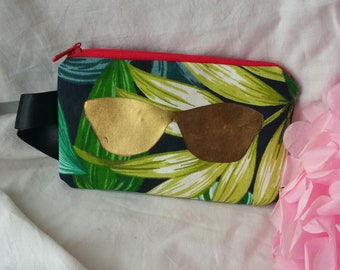 Number 13: Glasses case in the tropical foliage print fabric collection.