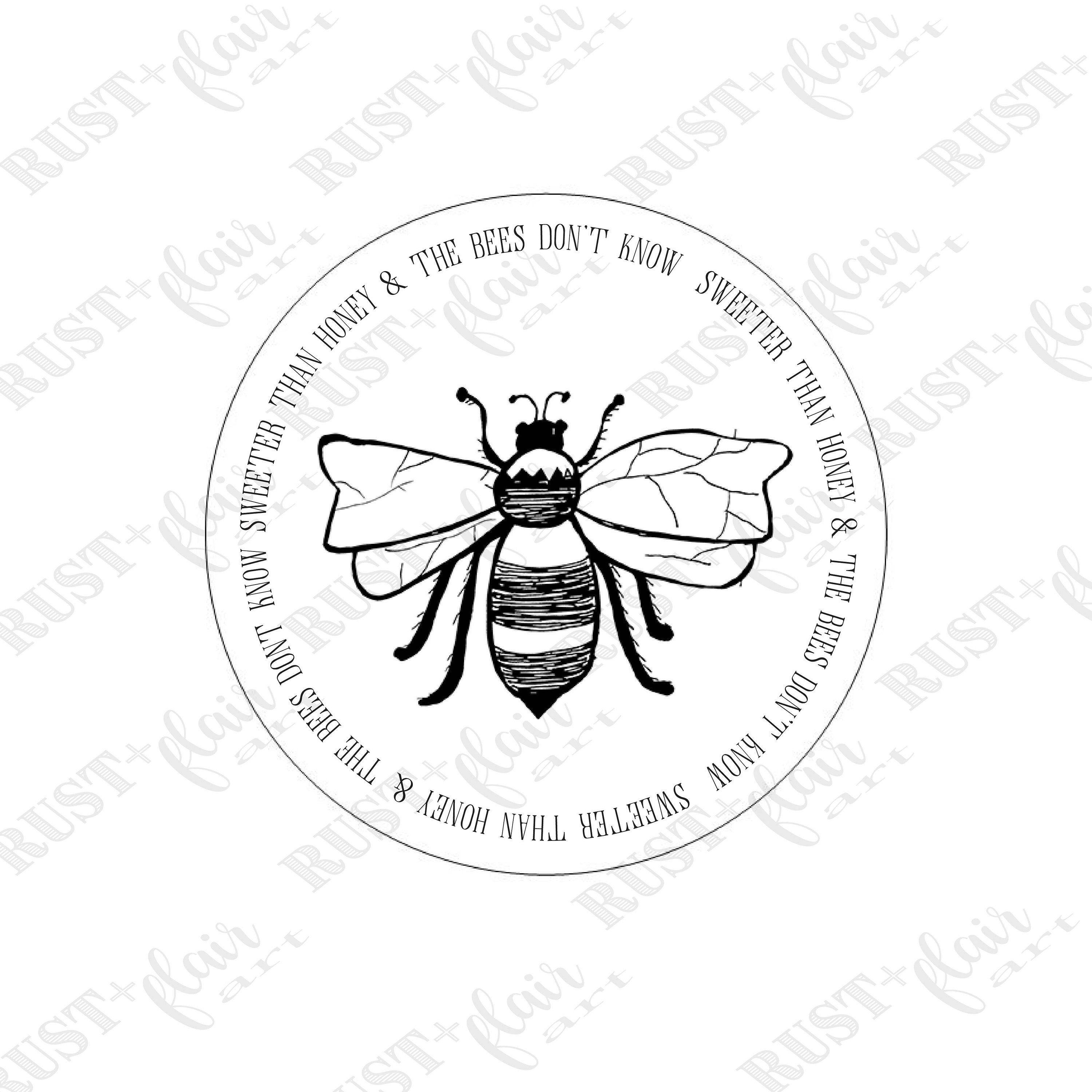 bee bee happy sweeter than honey 2 inch stickers bee etsy Sweeter Smile 50