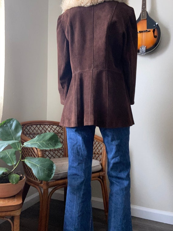 Vintage Suede with fur collar 70's Penny Lane Coat - image 4