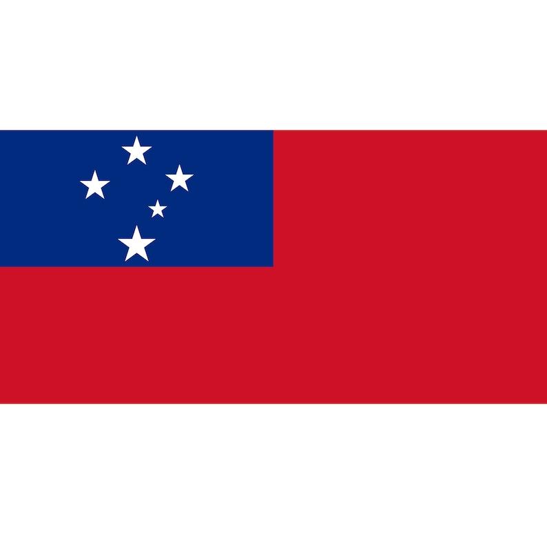 Samoan Oceania Country Symbol National Emblem Seal Clipart Digital Download Cricut Printable Samoa Flag and Coat Of Arms SVG PNG