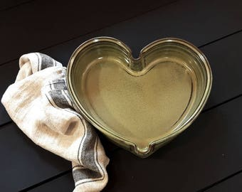 Casserole dish – Pottery heart shaped casserole dish, Cooking dish, Ceramic, Stoneware, Handmade, Wheel thrown