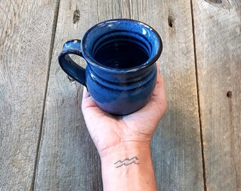 Coffee mug – Pottery regular rounded coffee mug, Coffee cup, Ceramic, Stoneware, Handmade, Wheel thrown
