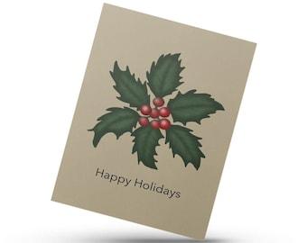 Happy Holidays, Merry Christmas card, Christmas card, Christmas Ornament, Festive winter Card