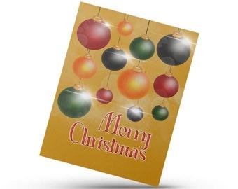 Ornament Card, Merry Christmas card, Christmas card, Christmas Ornament, Festive winter Card