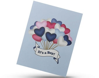 Genger reveal card, it's a boy, it's a girl, african american