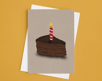 Birthday Card For Him, For Her, Cake Card, Anniversary Card, Celebration Card, African American, Black Cake