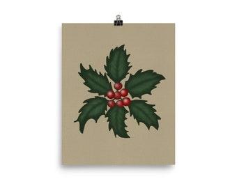 Holiday Art Print, Christmas Wall Art