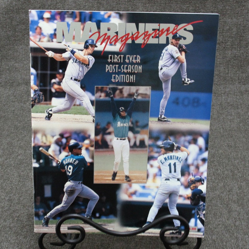 Seattle Mariners 1995 Post-Season Playoff Magazine First-Ever Produced  Excellent Unused Condition
