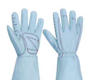 Long Cuff Leather garden gloves