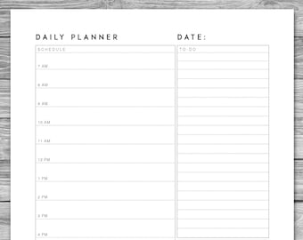 graphic regarding Daily Agenda referred to as Planner template Etsy