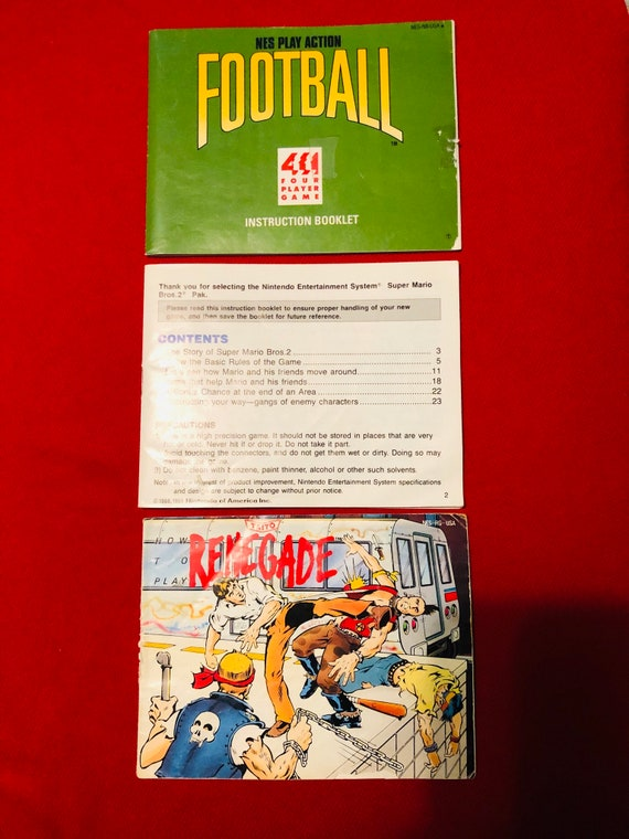 Super Mario Bros 2 Original Nes Manual Renegade And Play Etsy