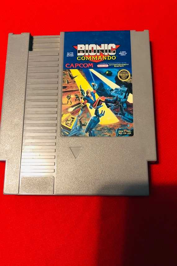 Bionic Commando NES Nintendo Original Video Game Cartridge! + Case,Cleaned  and Tested! 1980s Vintage Rare!