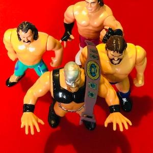 Legion of Doom Vintage WWF Backpack Action Figure Organizer Blue Toy Holder Wiz Too 1991 Tran Sports Rare Wrestling Collectible