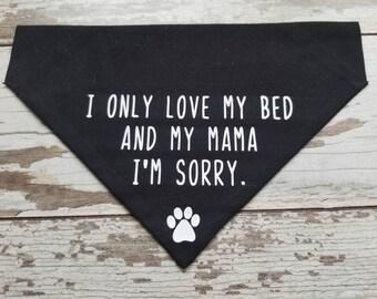 Funny dog bandana | Etsy