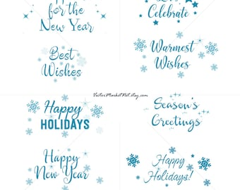 happy new year 2019 clip art instant download christmas concept in the blue color bible journaling printable clipart scrapbooking