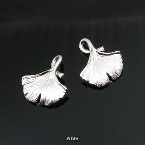 Airssory Lot de 100 pendentifs en forme de feuille de ginkgo en laiton plaqu/é or pour fabrication de bijoux 33 mm
