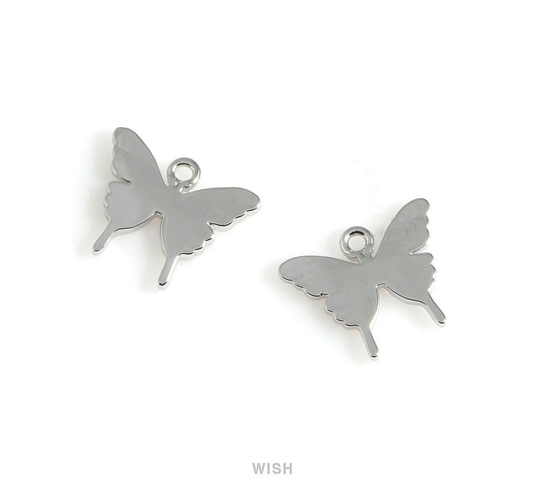 Butterfly Pendant in Gold Gold Blank Butterfly Charm  Gold Butterfly  Butterfly Earrings  Butterfly Necklace  11.5mm x 9mm  MG-541-P