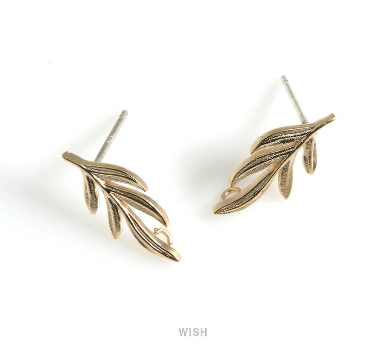 65ecfe521e0a9 Rosemary Stud Earrings in Matte Gold, Herb Leaf Ear Studs / Matte Gold /  Rosemary / Herb / Rosemary Earrings / 7.5mm x 16mm / MMG-492-E