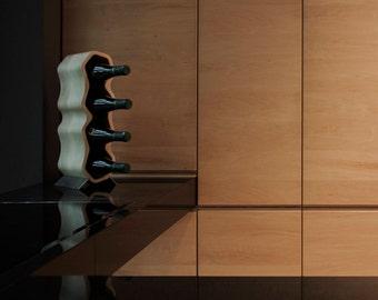 Wine Rack Crocked, walnut, oak, solid wood, gift for him