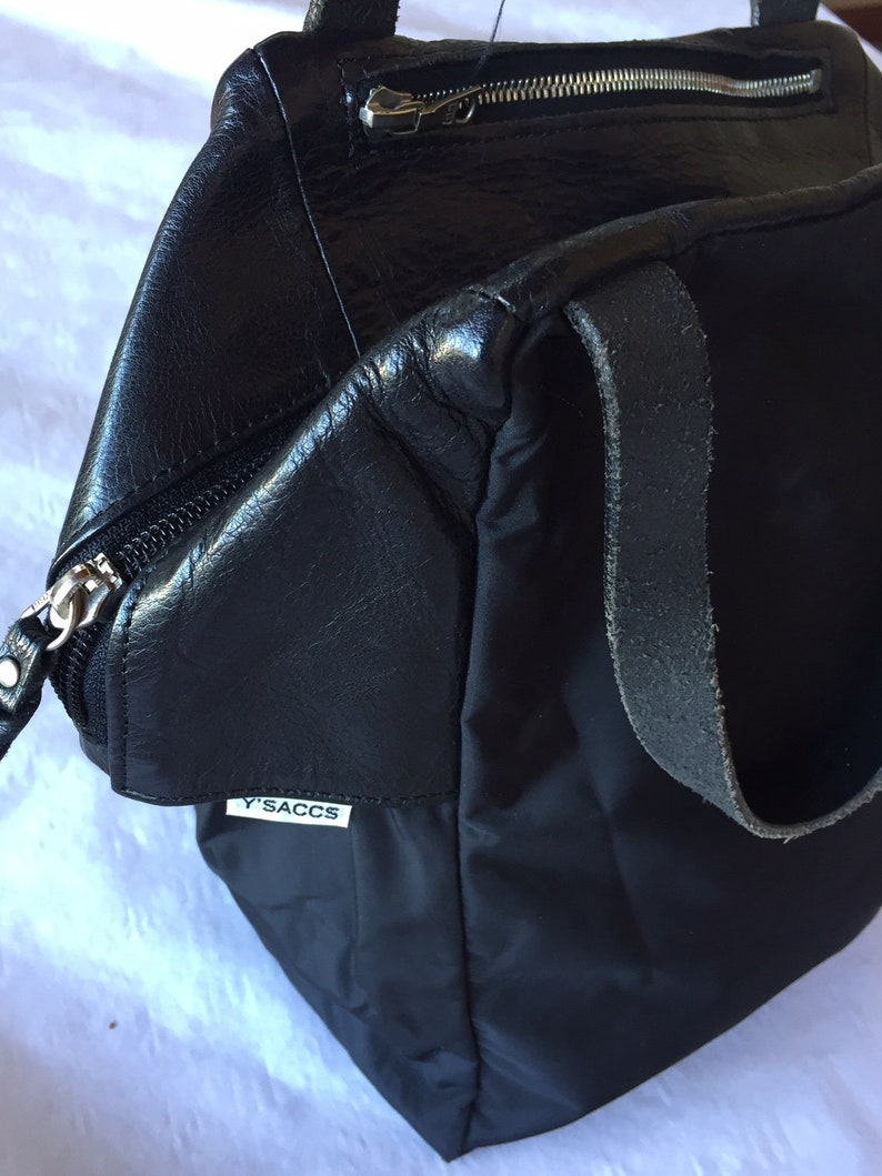 753b6bc0b2 Vintage Y saccs Yohji Yamamoto bag leather and nylon black