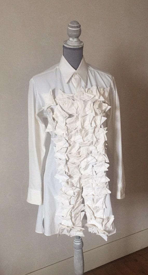 Yohji Yamamoto vintage womens shirt/origami shirt/