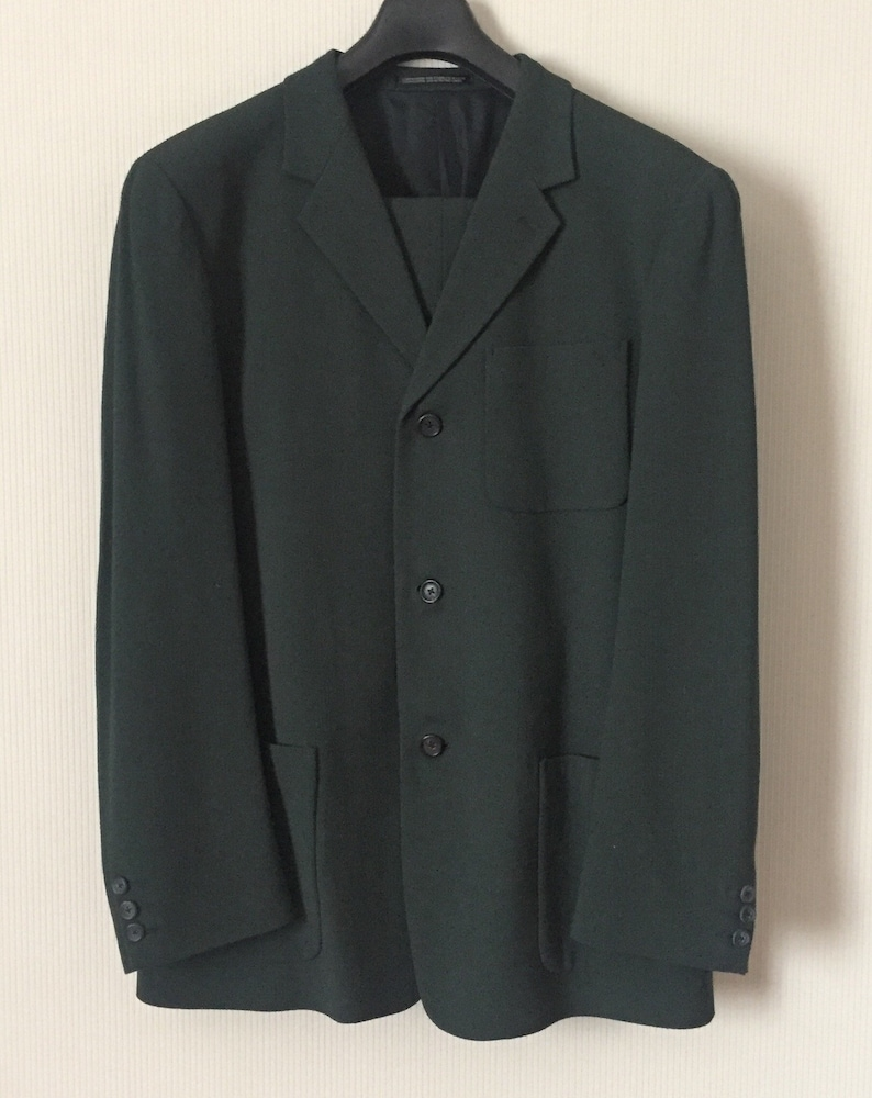 Vintage Y S For Men Suit Jacket And Pants Dark Green Etsy
