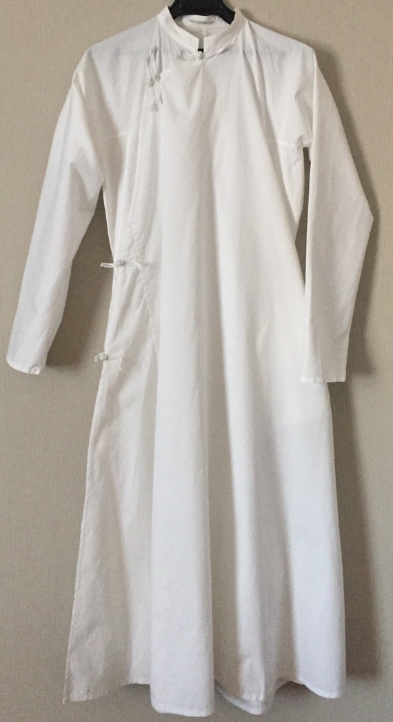 Yohji Yamamoto white cotton dress/summer vibes/whi