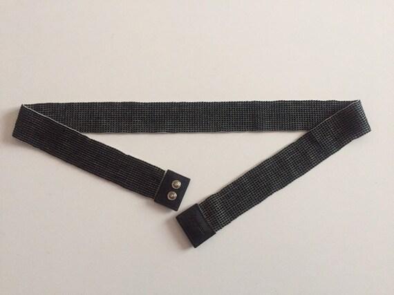 Yohji Yamamoto elasticated belt/black beads belt/f