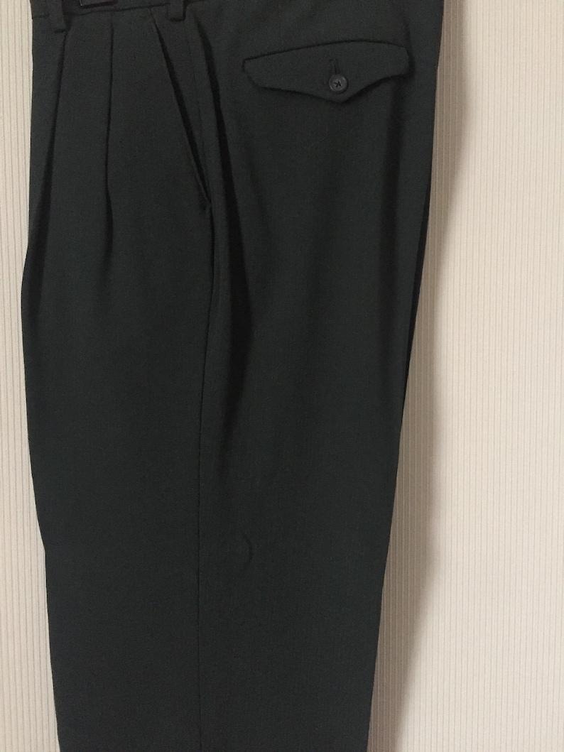 Vintage Y/'s for men suit jacket and pantsdark green colourRef SU002