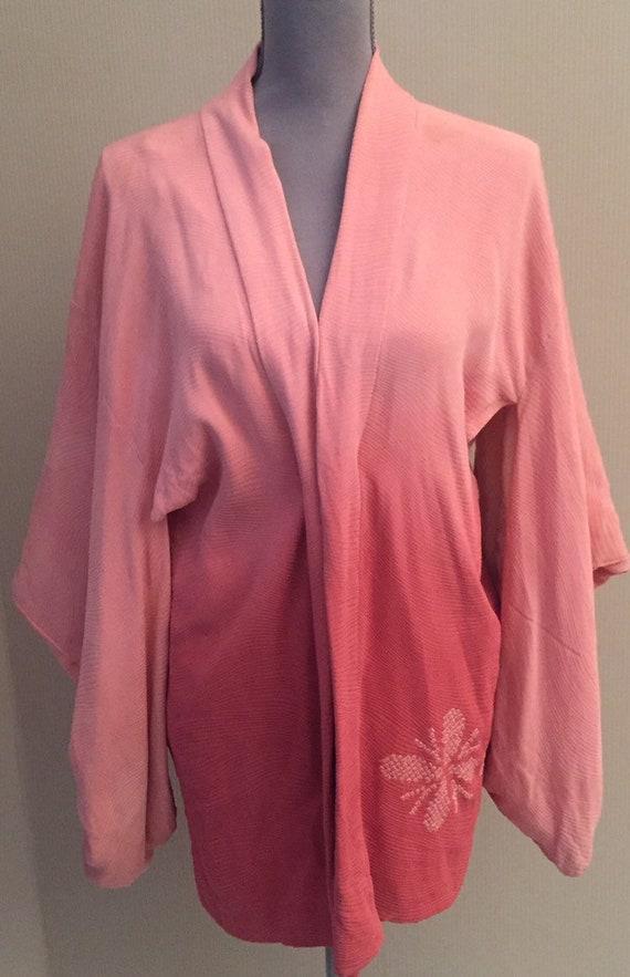 Vintage silk kimono/tie and dye kimono/kimono for
