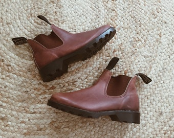 3e307d05f891d Vintage Leather Boots | Jenkins Workmaster | Workboots Tan Brown | Mens  Womens Unisex Boots | Chelsea Boots | Made in Australia