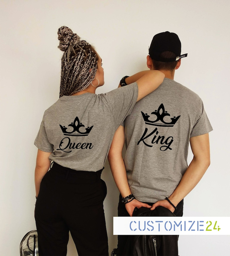 2dab7c8fa3 King and queen t-shirt King t-shirt Queen t-shit Crown King | Etsy