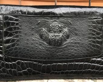 Kroko Clutch Black