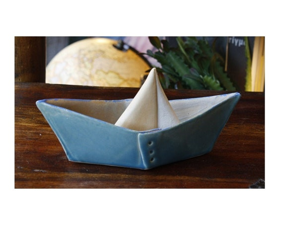 Handmade Ceramic Little Boat