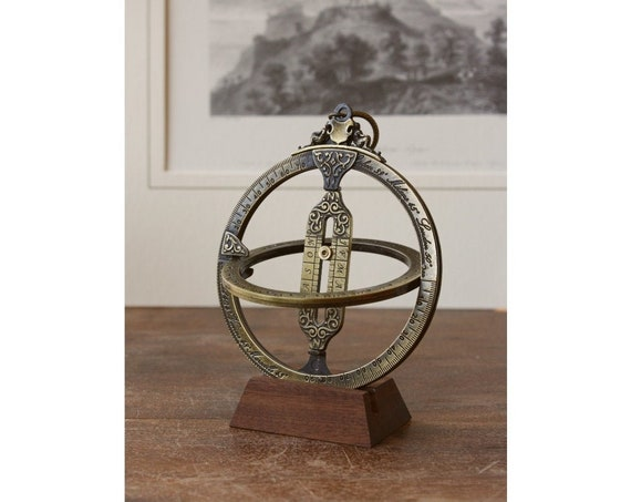 Sundial  Astrolabe, Astrolabe, Navy instruments,Retro Vintage style, For Him, Solar Watch, Bronze Pendant,Nautical Objects