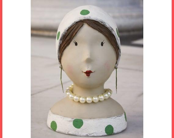 Polka Dot Girl Bust