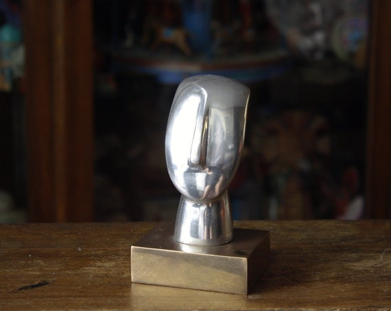Primitive Aluminium Cycladic Idol