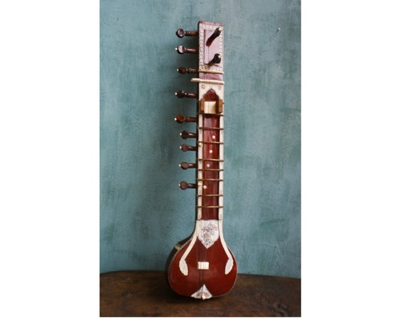 Vintage Sitar Instrument, Sitar Musical Instrument, Indian Music Instrument, Vintage Musical Instrument, Old Sitar, Sitar Collection, India