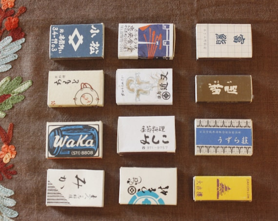 Set Of Twelve Vintage Chinese Match Boxes
