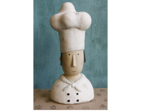 Handmade Little Chef Figurine, Kitchen Decoration, Gift For Chef, Chef Gift Ideas, Cook Figurine