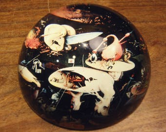 The Garden of Earthly Delights Paperweight, Hieronymus Bosch, Art Gift, Artistic